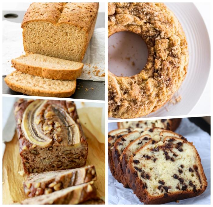 rezept glutenfreier kuchen, marmor kuchen mit bananen backen, nachtisch ideen, schokoladenchips