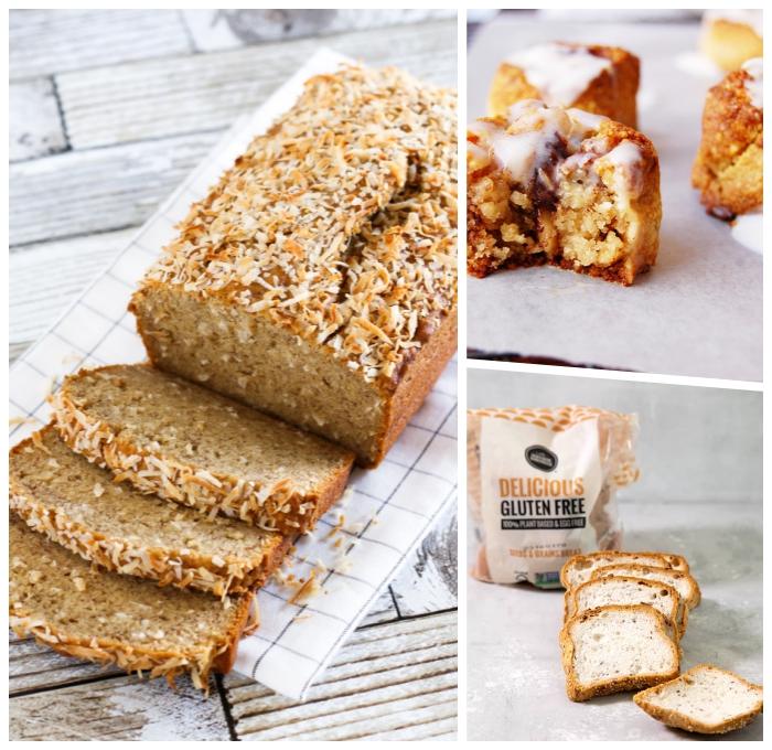 rezept glutenfeier kuchen mit kokosflocken, brot ohne gluten zubereiten, muffins mit zuckerglasur