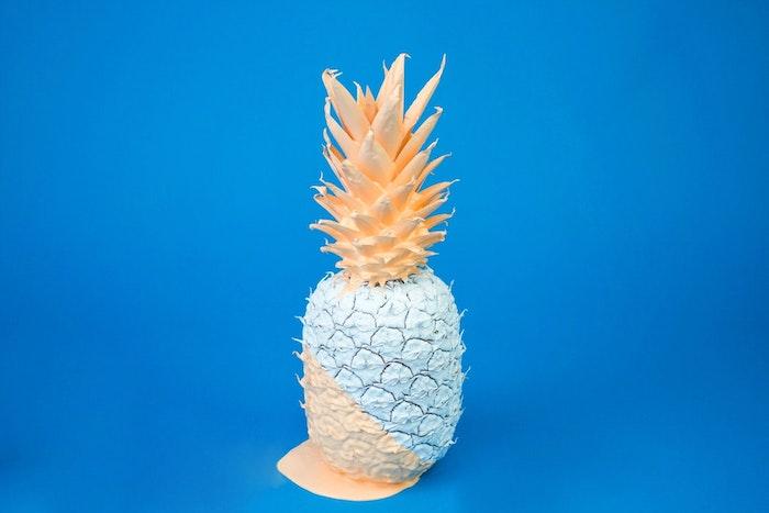 hintergrund tumblr, ananas selber bemalen, diy deko machen und fotografieren