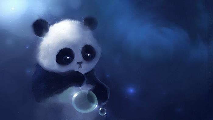 pinterest wallpaper, ein nettes panda bild, panda selber malen mit farben