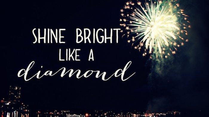 tumblr wallpaper mit spruch von dem lied von rihanna, schine bright like a diamond