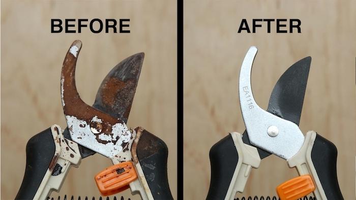 Vor und nach der Reinigung, Werkzeuge mit Ultraschalltechnik reinigen