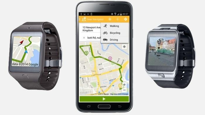 zwei Smartwatches und ein Smartphone, eine schöne Karte von Google, Galaxy Watch
