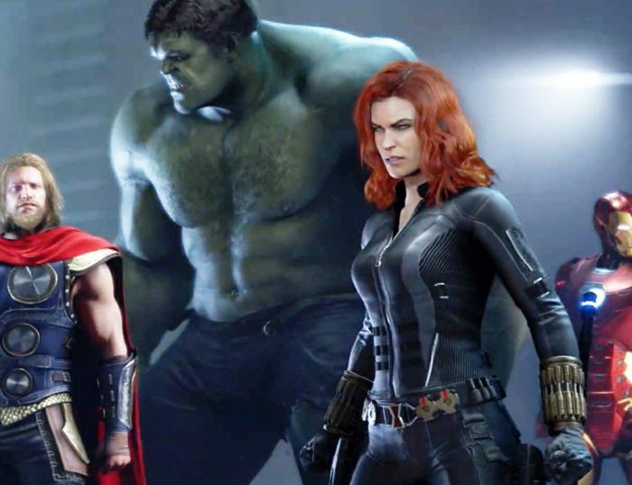 die spannende Erwartung des Spiels von Avengers, wo alle Superhelden austoben