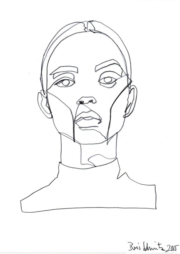 bilder zum abmalen, frau zeichnen, fraunkopf, einfache zeichnung, coole bilder zum zeichnen
