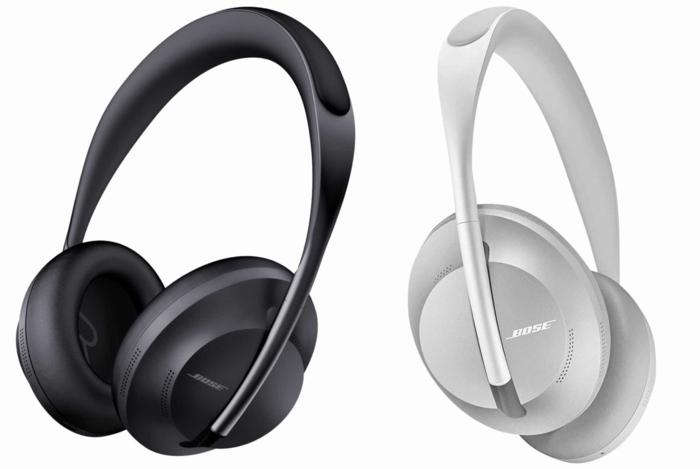schwarzer und weißer Kopfhörer mit Kopfhörbügel aus Edelstein von Bose