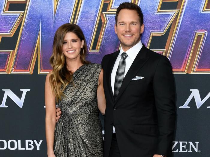das verlobte Paar erscheint zusammen auf der Premiere von Avengers Endgame, Chris Pratt
