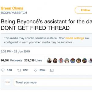 Das beste Twitter-Spiel wurde von einem Beyonce-Fan veröffentlicht!