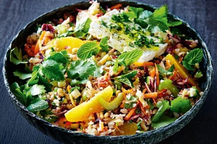 low carb salat mit obst und gemüse, essen ohne kohlenhydrate , low carb diät rezepte