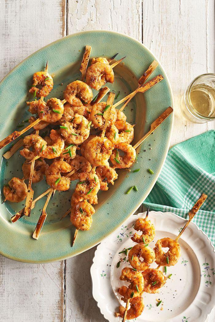 Fingerfood Spieße, leckere Garnelen, schnelle Fingerfood Rezepte zum Nachmachen