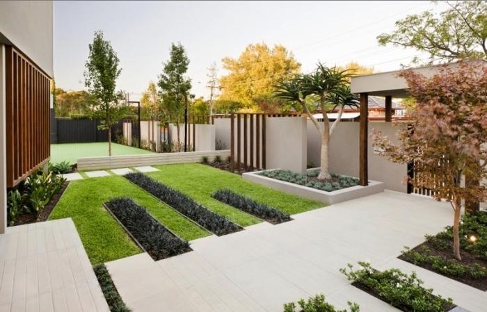 Minimalismus im modernen Garten