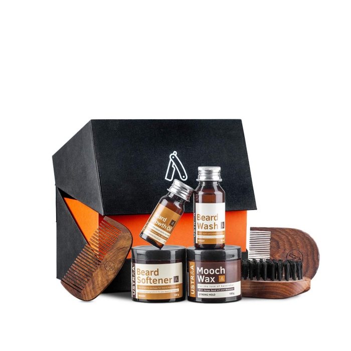 geburtstagsgeschenk für freund, kamm aus holz, kosmetik für bart, bartpflege produkte, beard softener