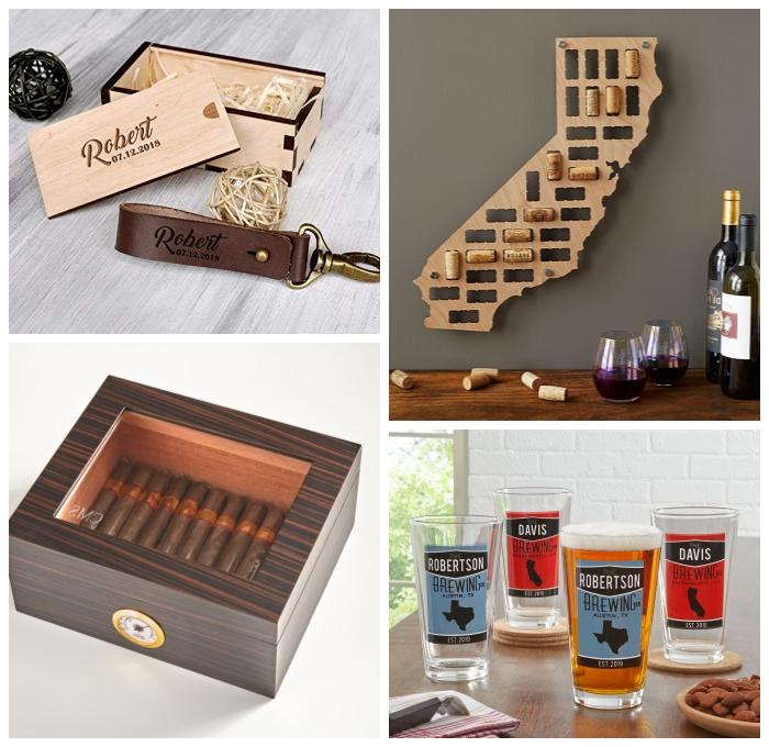 was kann ich meinem freund schenken, geburtstagsgeschenk für freund, schlüsselanhänger aus leder, holybox mit zigarren