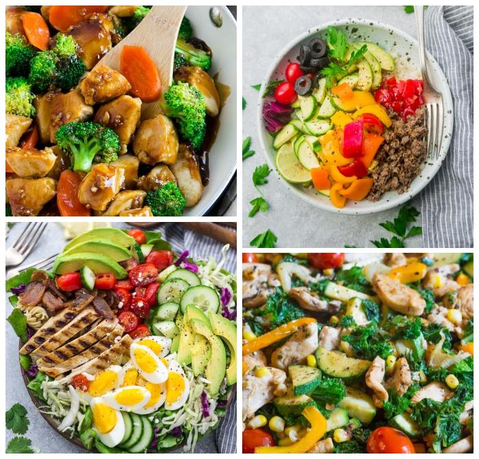 gerichte ohne kohlenhydrate ideen, einfache und schnelle rezepte, hühnerfleisch mit sojasoße, brokkoli und karotten