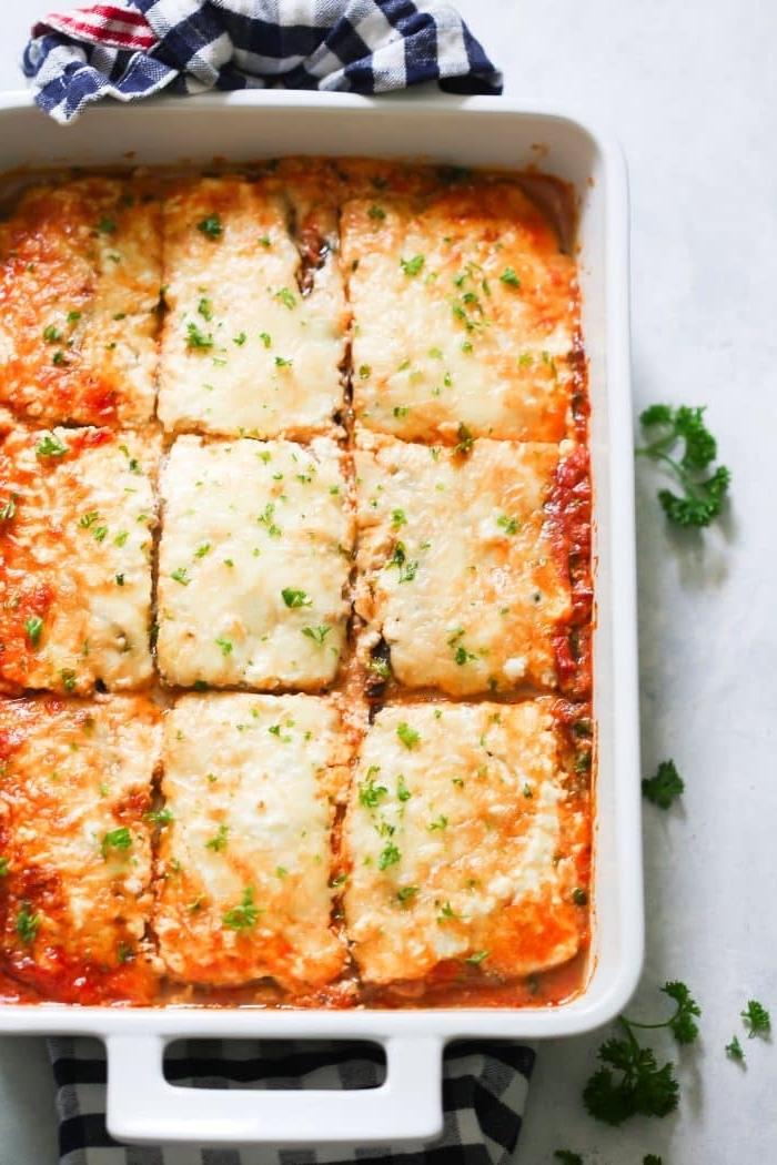 gerichte ohne kohlenhydrate, low carb lasagna, kohlenhydratarme ernährung, abendessen ideen