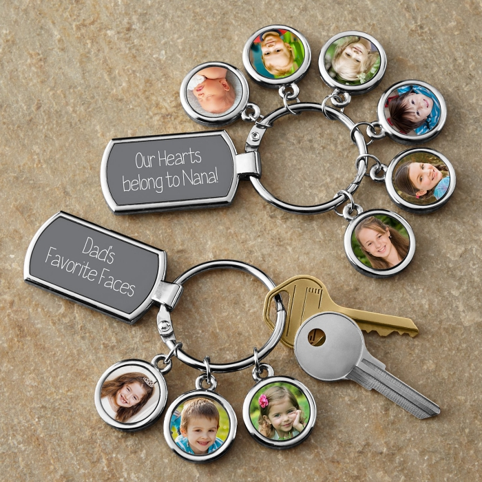 geschenke für den freund, die besten ideen, personalisierte schlüsselanhänger mit fotos, geschenkideen, vatertag
