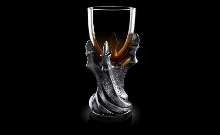 geschenke für männer die alles haben, game of thrones glas, drachenkrallen, weinglas, glas