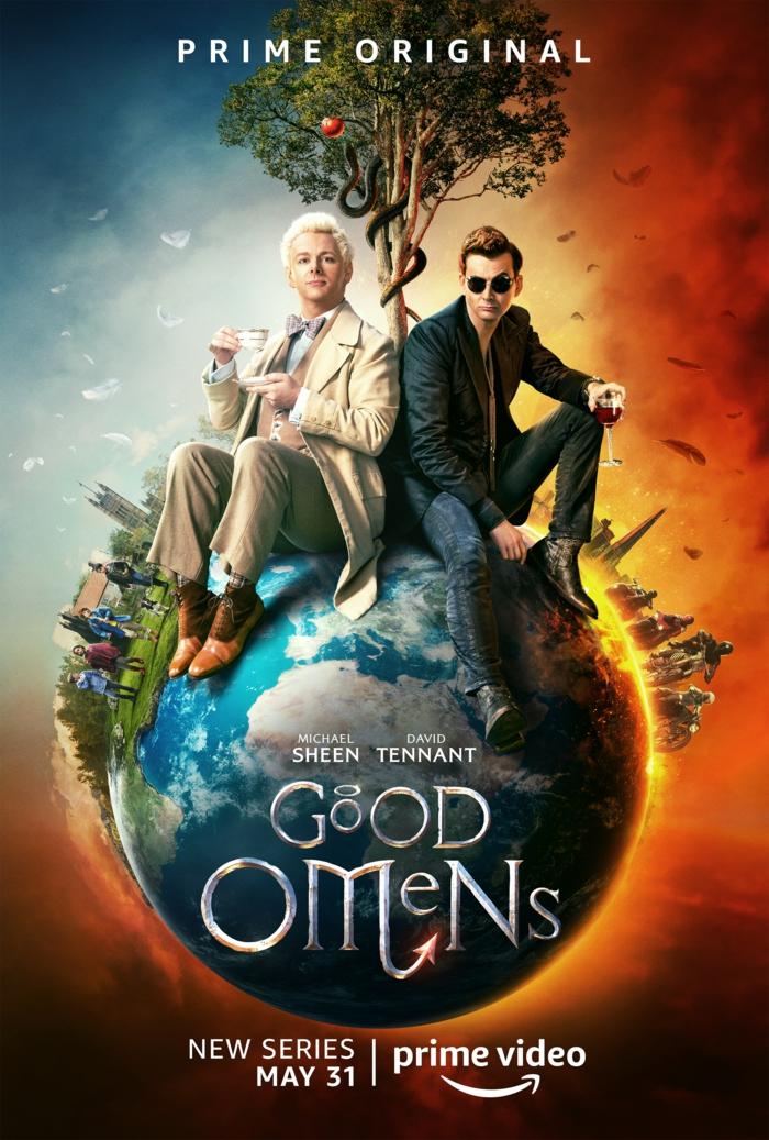 das Poster vo der Miniserie Good Omens, auf dem zu sehen, an wen die Petittion gerichtet werden soll