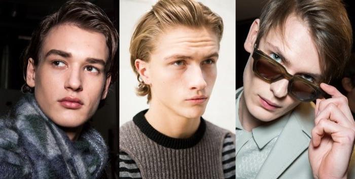 haarschnitt männer,collage mit drei bildern, moderne frisuren kurz bis mittellang