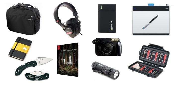 kleine geschenke für männer, was kann ich meinem freund schenken, schwarze tasche, fotoapparat