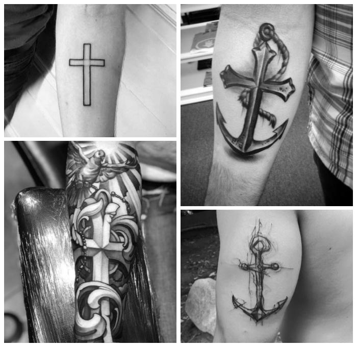 Tattoos männer unterarm kreuz