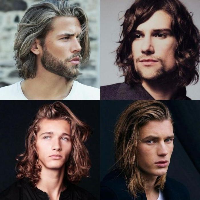 haarschnitt männer, colllage mit vier frisuren, vier hairstyle ideen für männer