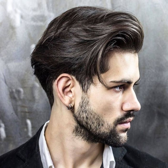 haarschnitt männer, trendy haarschnitte ideen für dunkelhaariger mann