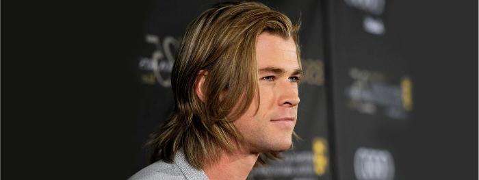 frisuren herren, ein model schauspieler, mittellange blonde haare für mann