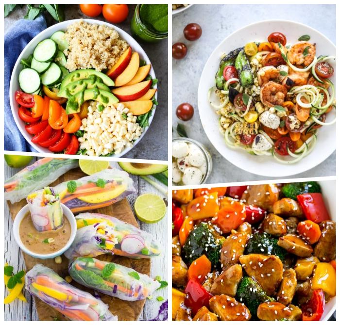 schnelle einfache gerichte für den sommer, salat mit avocado, tomaten und kichererbsten, frische sommerrezete