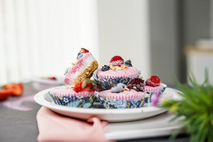 schnelle fingerfood rezepe frozen skyr cupcakes mit erdberen zubereitungsweise