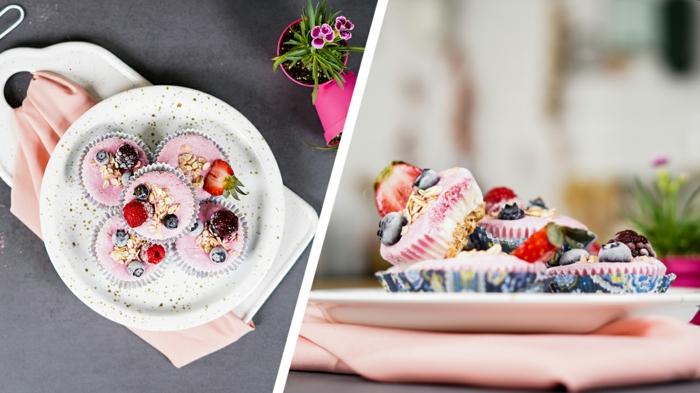 schnelle fingerfood rezepe leckere cupcakes ohne backen nachtisch mit beeren