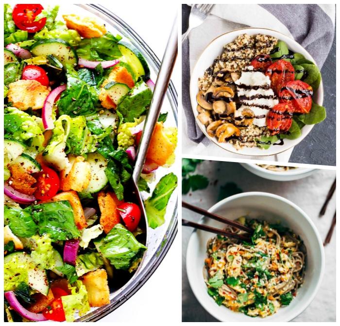 gesunder salat ideen, schnelle rezepte mittagessen, frische sommerrezepte, abnehmen low carb