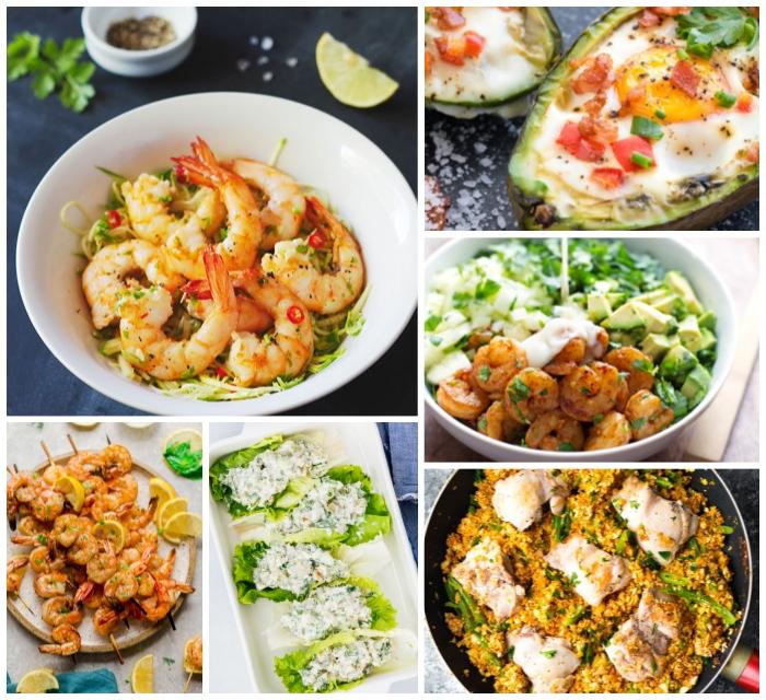 schnelle rezepte ohne kohlenhydrate, low carb essen, gerichte zum abendessen, avocado boats, gesunde tacos