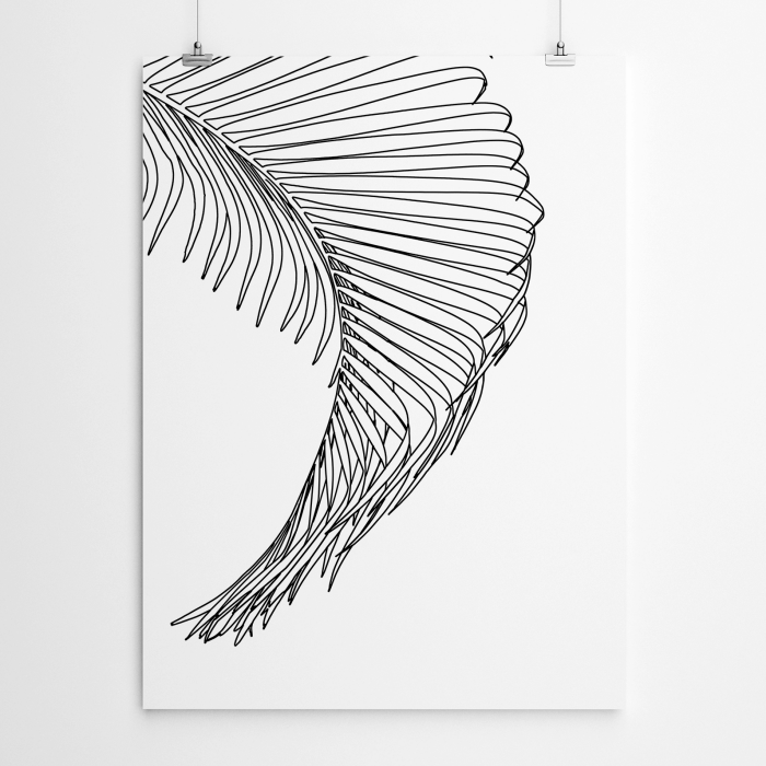wanddeko ideen, großes bild, palmenblatt, schöne bilder zum malen, wand dekorieren, leinwand