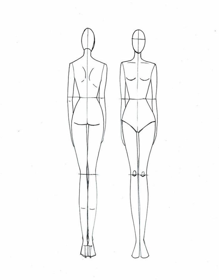 schöne bilder zum nachmalen leicht, frauenkörper richtige proportionen zeichnen, frau