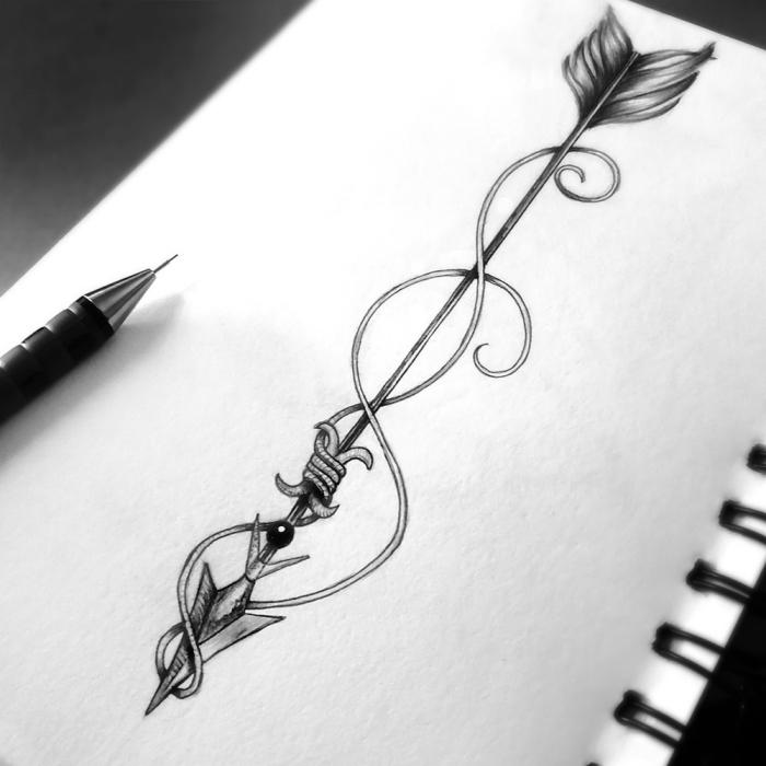 schöne bilder zum nachmalen leicht, großer pflei, schwarz graue zeichnung, tattoo vorlage