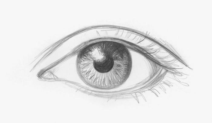 schöne bilder selber malen, auge zeichnen, realitische zeichnung, frauenauge skizzieren