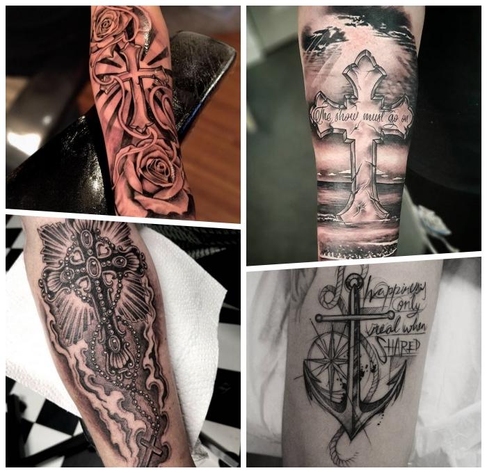 Kreuz arm tattoos männer Tattoo Männer