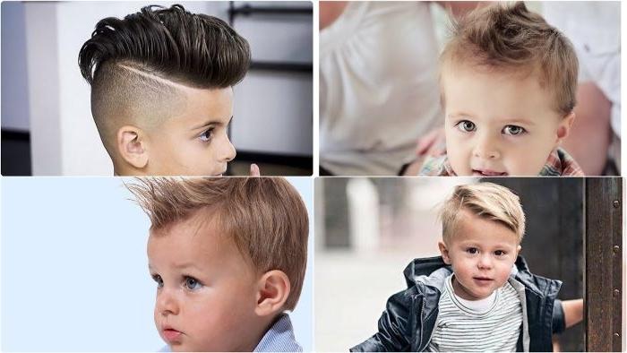 jungs frisuren 2019 collage mit ideen für die kleinsten frisuren inspiration