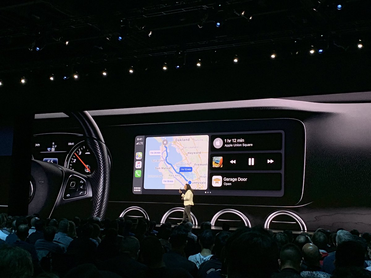 eine Verbesserung bei den Karten, die beim Fahren zu verwenden sind, eine Präsentation auf WWDC Konferenz