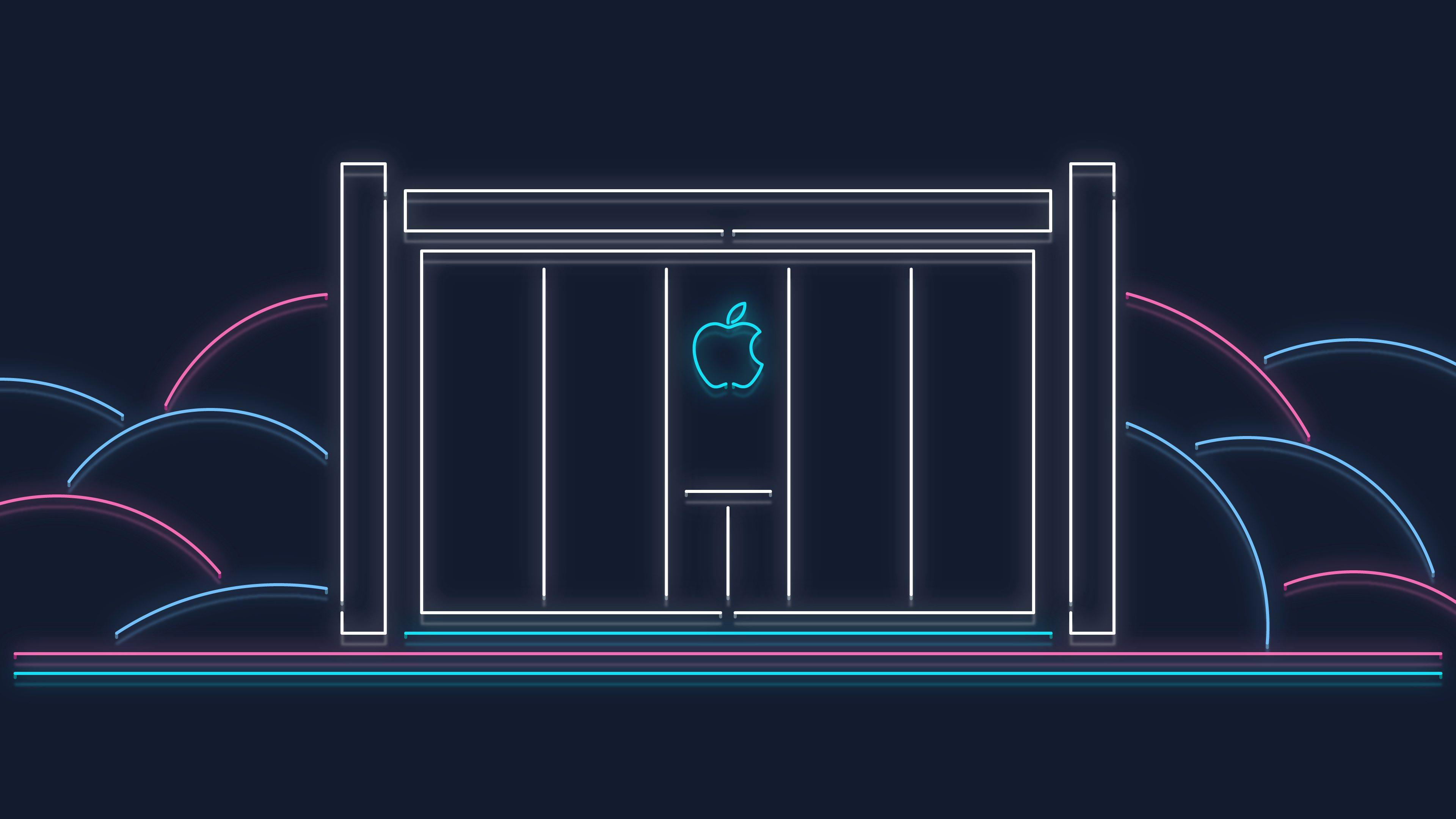 ein Gebäude mit dem Logo von Apple, eine Werbung für WWDC jährliche Konferenz