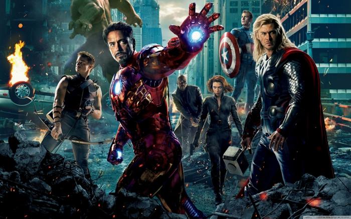 Avengers: Endgame und alle Helden, die daran teilnehmen, Ironman, Thor und Captain America
