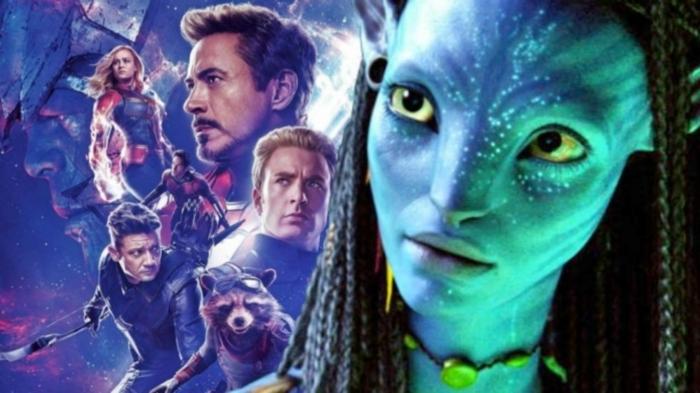 Avatar und Avengers: Endgame auf einem Bild um den Kampf zu zeigen, Avengers siegen