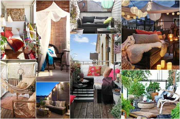 balkon deko idee, viele kleine bilder auf einmal sammeln, collage mit 1001 ideen von archzine, balkon schön gestalten