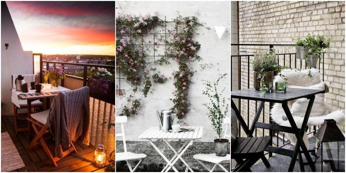 kleinen balkon gestalten, drei deko ideen, balkongestaltung, ideen zum inspirieren, simples design, schöner ausblick