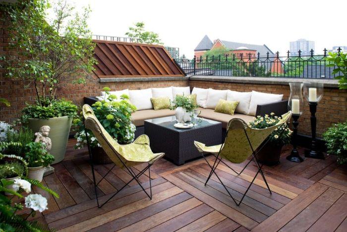 balkonmöbel für kleinen balkon, schöne und einfache balkon einrichtung, stühle zum mitnehmen