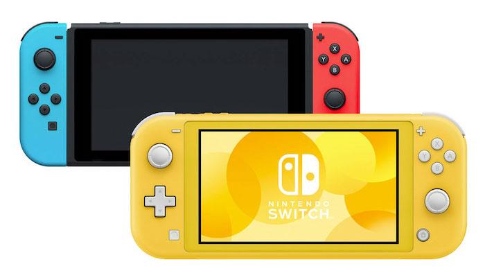 nintendo switch lite, gelbe konsole fpr spiele von nintendo mit einem gelben bildschirm