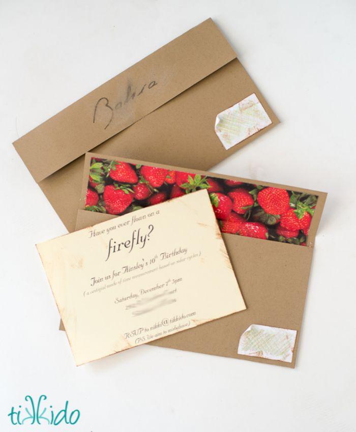 einladungskarten drucken, umweltfreundliche karten mit erdbeeren und papier