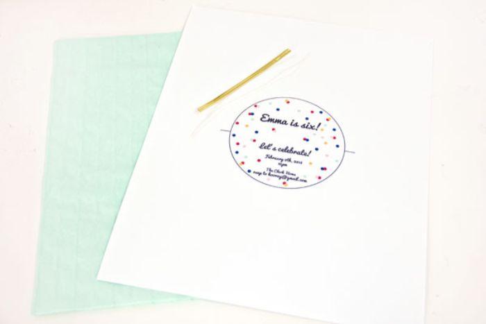 einladungskarten zum geburtstag, diy karte idee, einladung selber kreieren, schwarz auf weiß