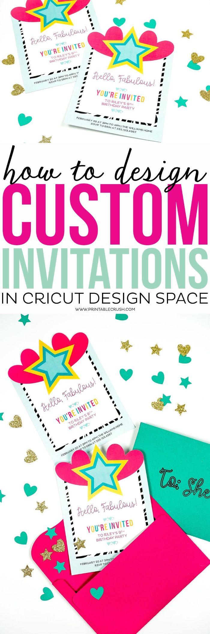 einladungskarten geburtstag, schöne einladung selbst basteln, rosarote briefumschläge für mädchen und blaue für jungs